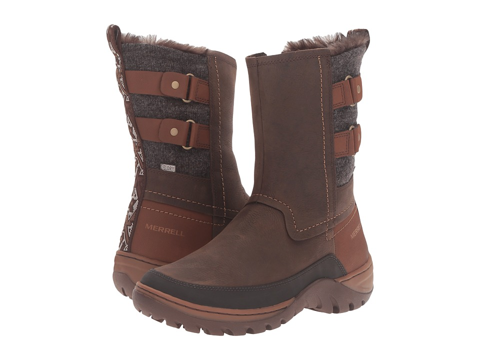 Merrell - Sylva Mid Buckle Waterproof (Merrell Tan) Women's Boots