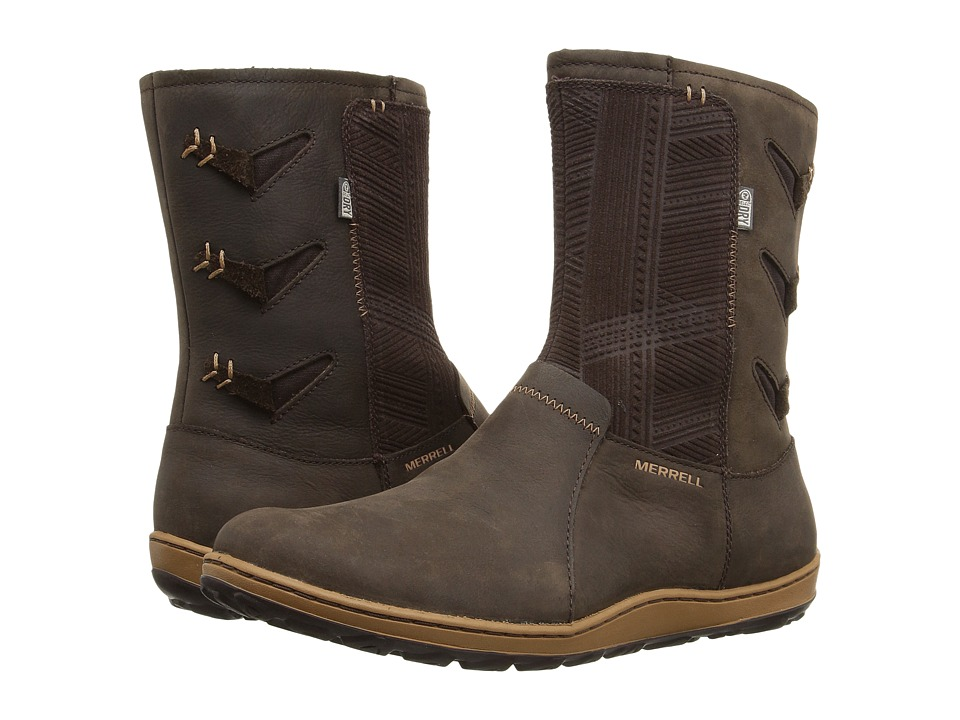 Merrell - Ashland Vee Mid Waterproof (Seal Brown) Women's Boots