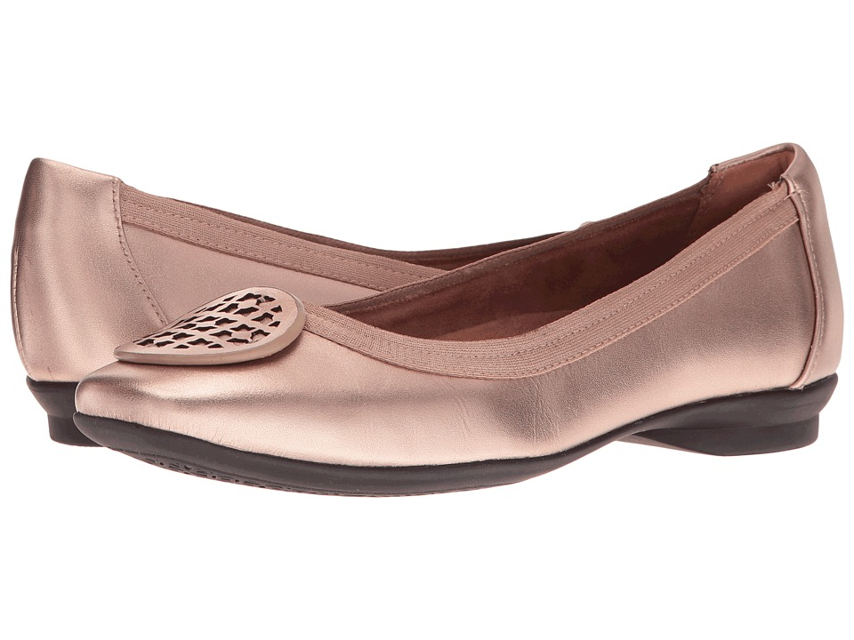 Clarks Candra Blush (Gold Metallic Leather) Women