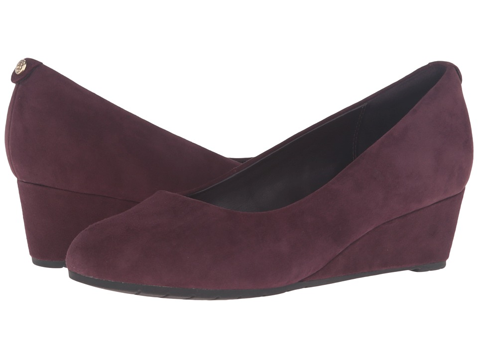 Clarks - Vendra Bloom (Aubergine Suede) Women's Shoes