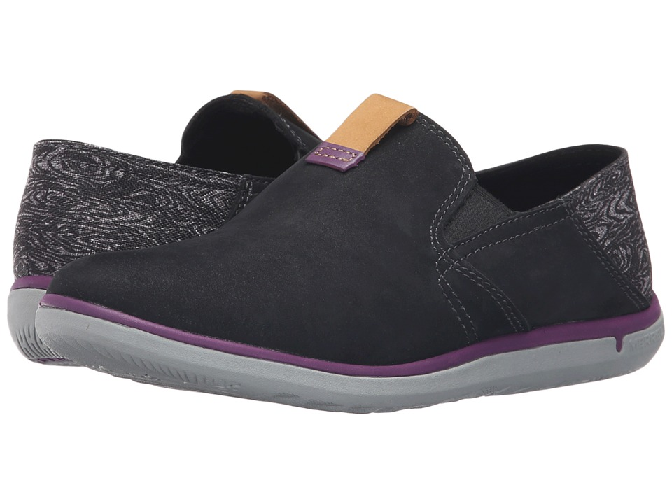 Merrell - Duskair Moc Smooth (Black) Women's Slip on Shoes
