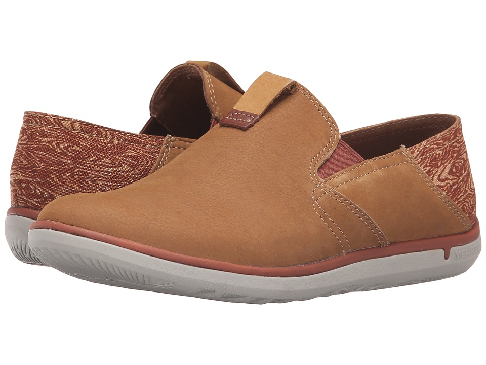 Merrell - Duskair Moc Smooth (Brown Sugar) Women's Slip on Shoes