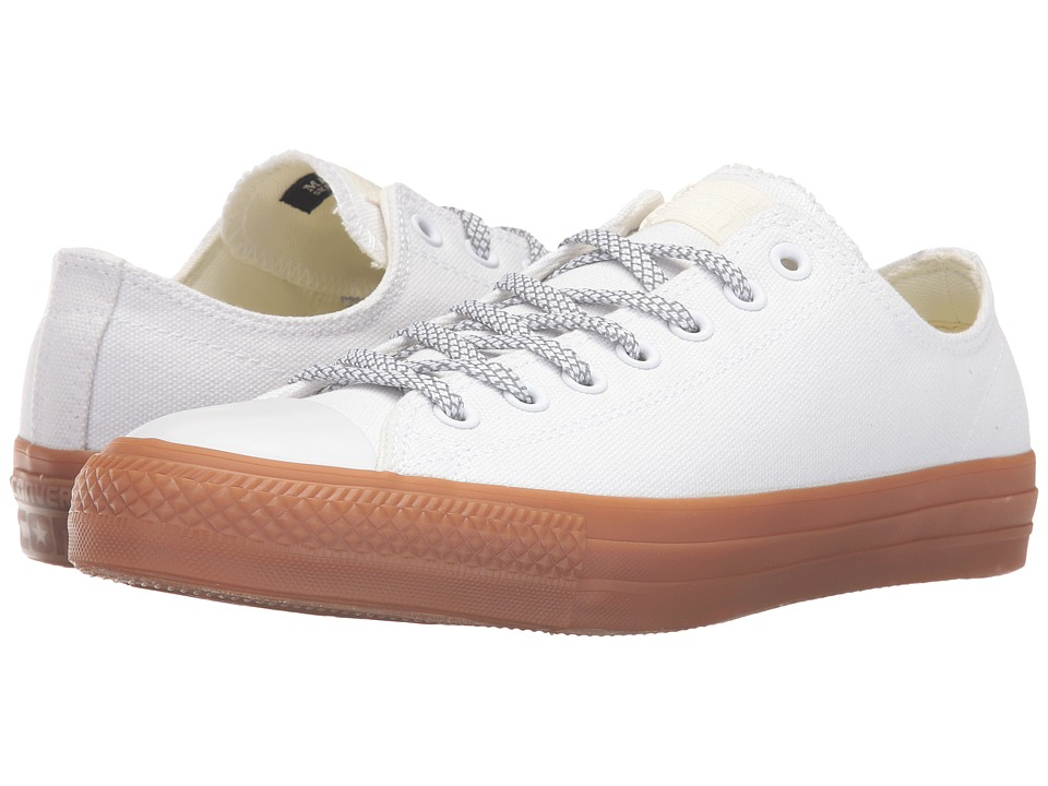 Converse - Chuck Taylor All Star Pro Shield Canvas Ox (White/Egret/Gum) Lace up casual Shoes