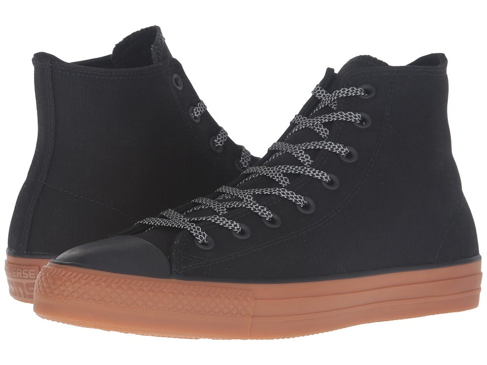 Converse - Chuck Taylor All Star Pro Shield Canvas Hi (Black/Black/Gum) Lace up casual Shoes