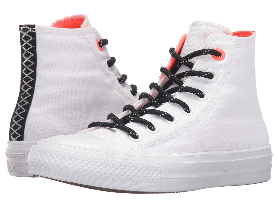 Converse Kids - Chuck Taylor All Star Hi II (Big Kid) (White/Lava/Gum) Boy's Shoes