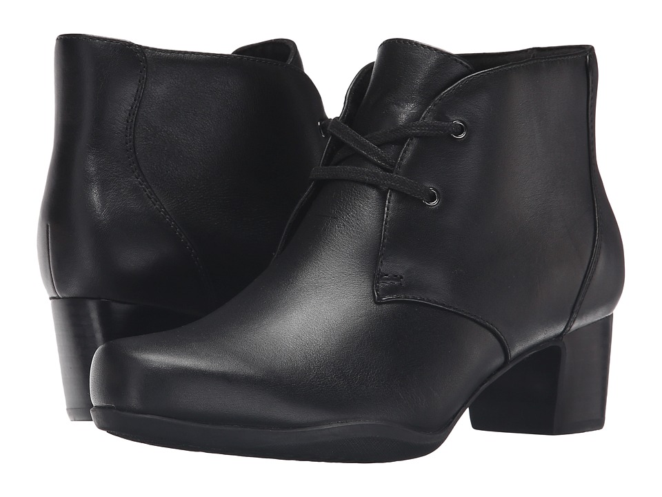 Clarks - Rosalyn Lark (Black Leather) Women's Shoes