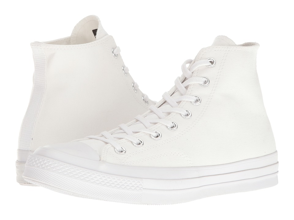 Converse - Chuck Taylor All Star '70 Vintage Canvas Hi (White/White/White) Lace up casual Shoes