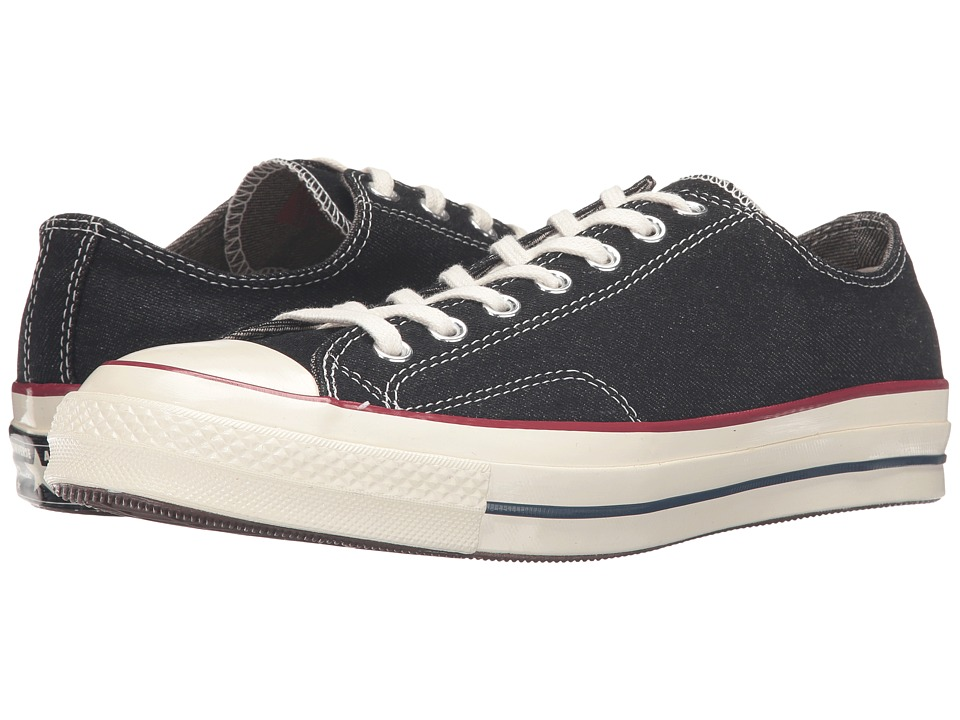 Converse - Chuck Taylor All Star '70 Denim Ox (Black/Garnet/Egret) Lace up casual Shoes