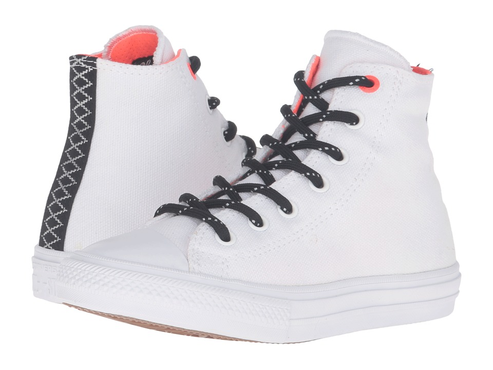 Converse Kids - Chuck Taylor All Star Hi II (Little Kid) (White/Lava/Gum) Boy's Shoes