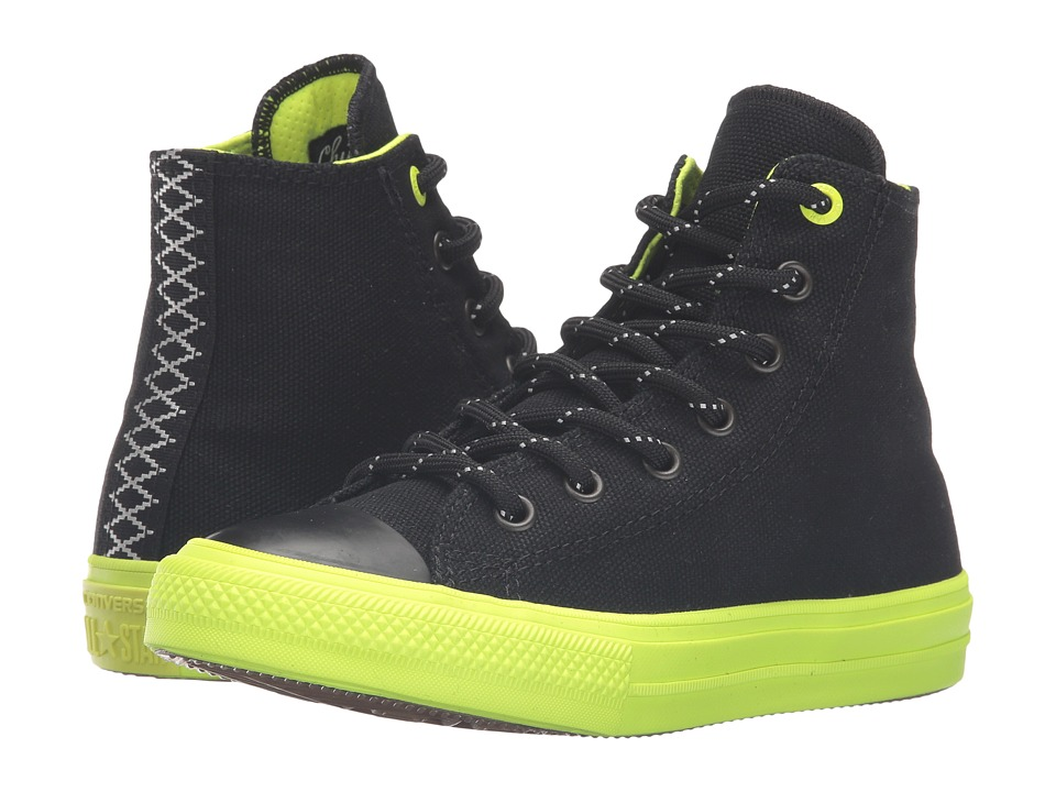 Converse Kids - Chuck Taylor All Star Hi II (Little Kid) (Black/Volt/Gum) Boy's Shoes