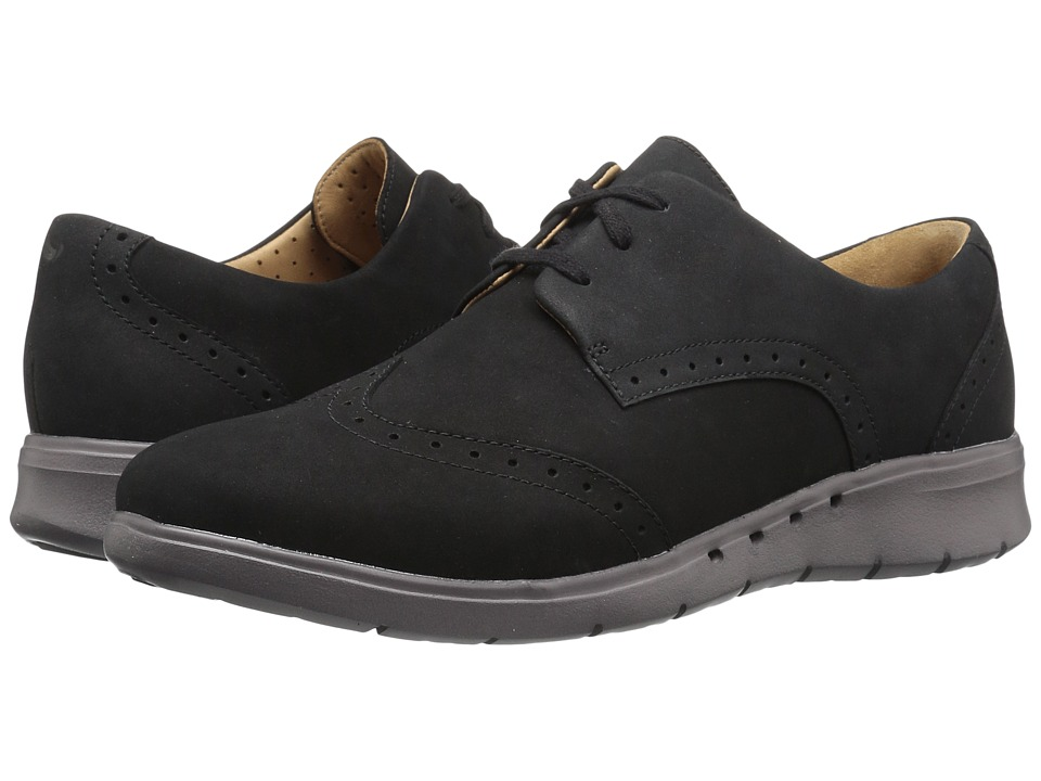 Clarks - Un Hinton (Black Nubuck) Women's Shoes