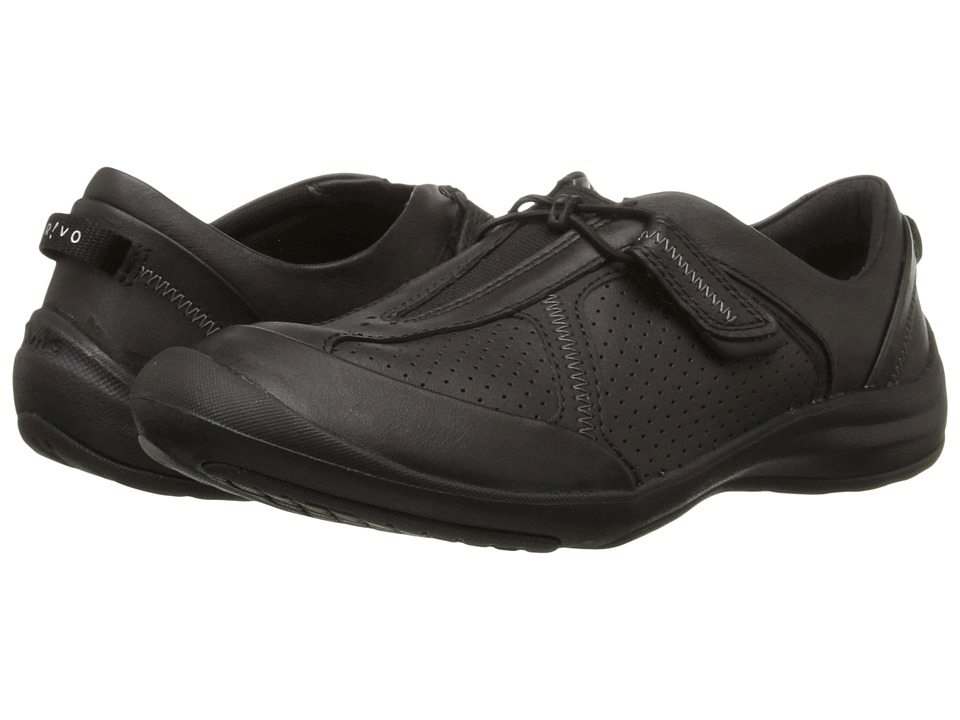 Clarks - Asney Slip-On (Black Leather) Women's Slip on Shoes