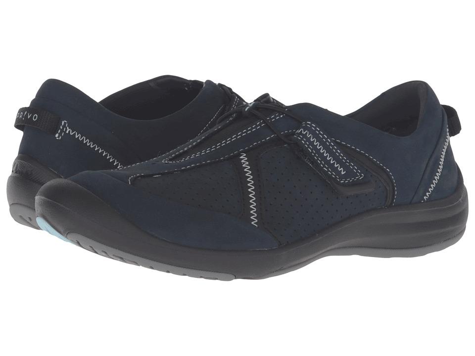 Clarks - Asney Slip-On (Navy Nubuck) Women's Slip on Shoes