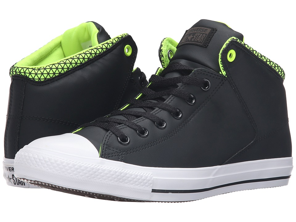 Converse - Chuck Taylor All Star High Street Mid (Black/White/Volt) Men's Lace up casual Shoes
