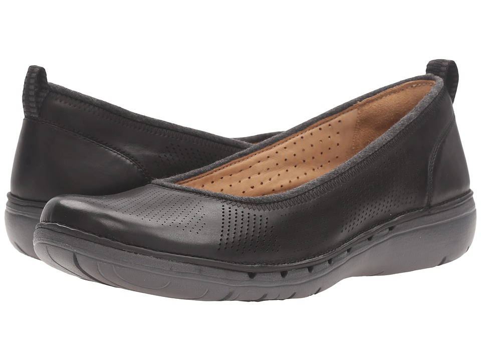 Clarks - Un Elita (Black Leather) Women's Wedge Shoes