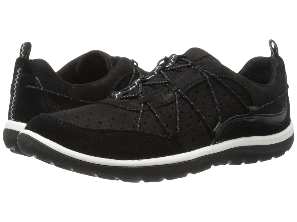 Clarks Aria Flyer (Black Leather) Women