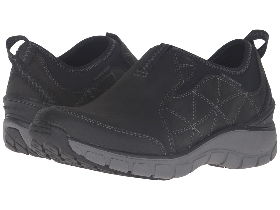 Clarks - Wave Slide (Black Nububck) Women's Slip on Shoes