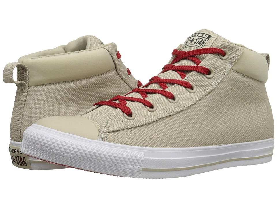 Converse - Chuck Taylor All Star Street Ballistic Mid (Frayed Burlap/White/Casino) Men's Lace up casual Shoes