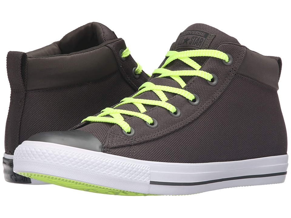 Converse - Chuck Taylor All Star Street Ballistic Mid (Cast Iron/White/Volt) Men's Lace up casual Shoes