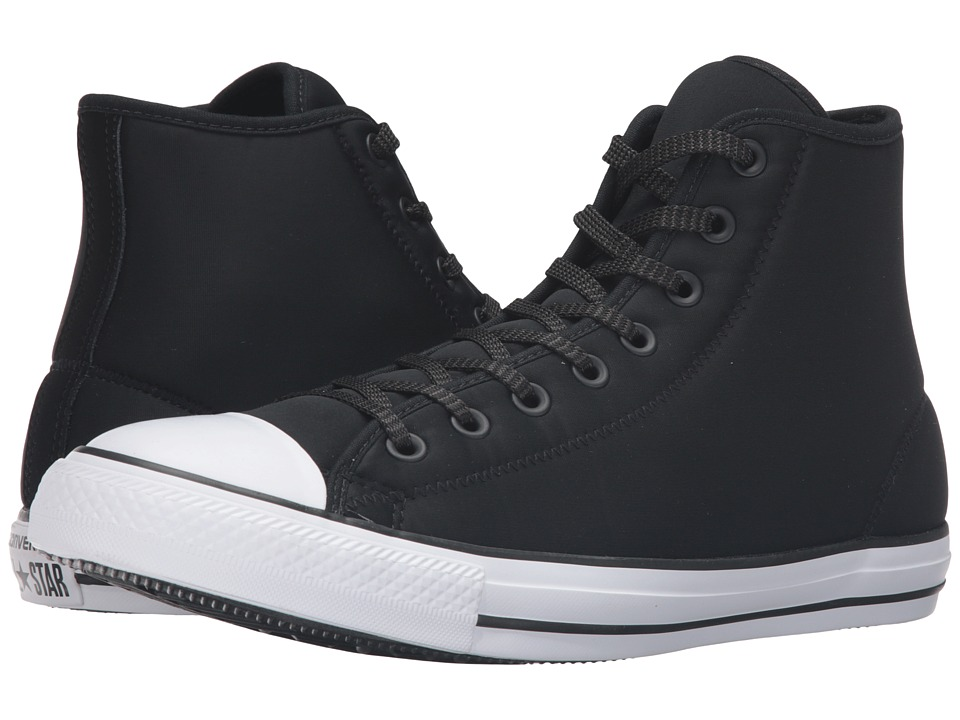 Converse - Chuck Taylor All Star Neoprene Hi (Black/White/Signal Red) Lace up casual Shoes