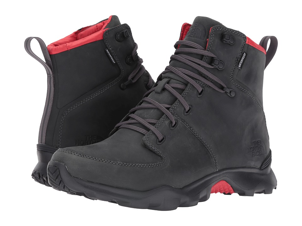 The North Face - ThermoBall Versa (Dark Shadow Grey/TNF Red) Men's Lace-up Boots