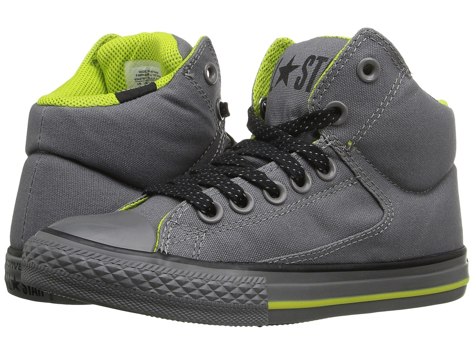Converse Kids - Chuck Taylor All Star High Street (Little Kid/Big Kid) (Mason/Bold Lime/Thunder) Boy's Shoes