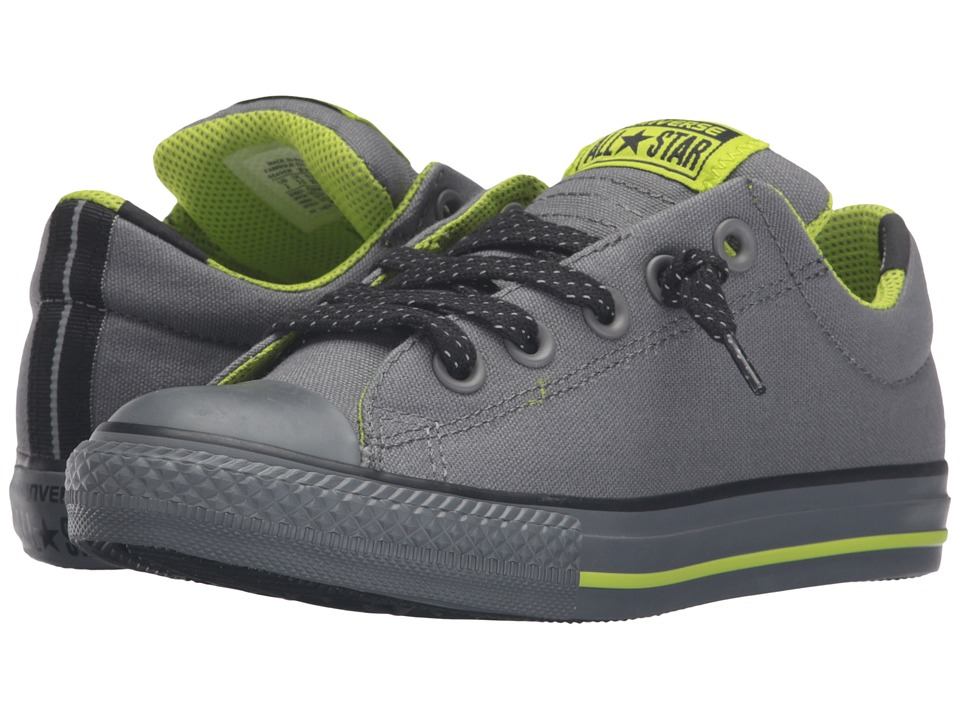 Converse - Chuck Taylor All Star Street (Little Kid/Big Kid) (Mason/Bold Lime/Thunder) Men's Shoes