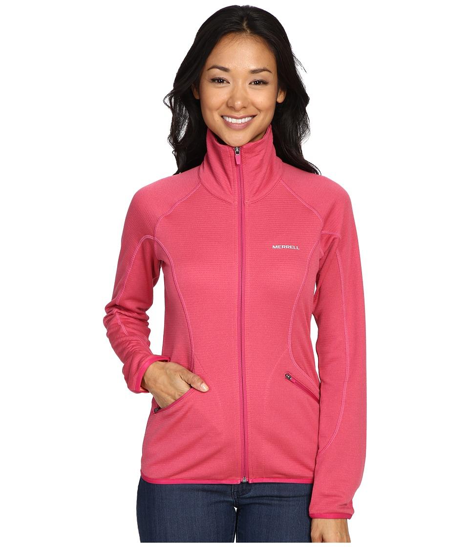Merrell - Geotex Full Zip Fleece (Sangria Heather) Women's Fleece