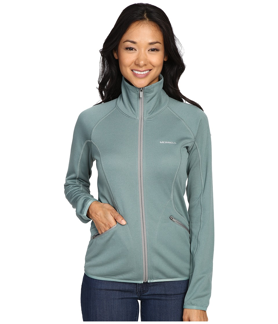 Merrell - Geotex Full Zip Fleece (Sagebrush Green Heather) Women's Fleece