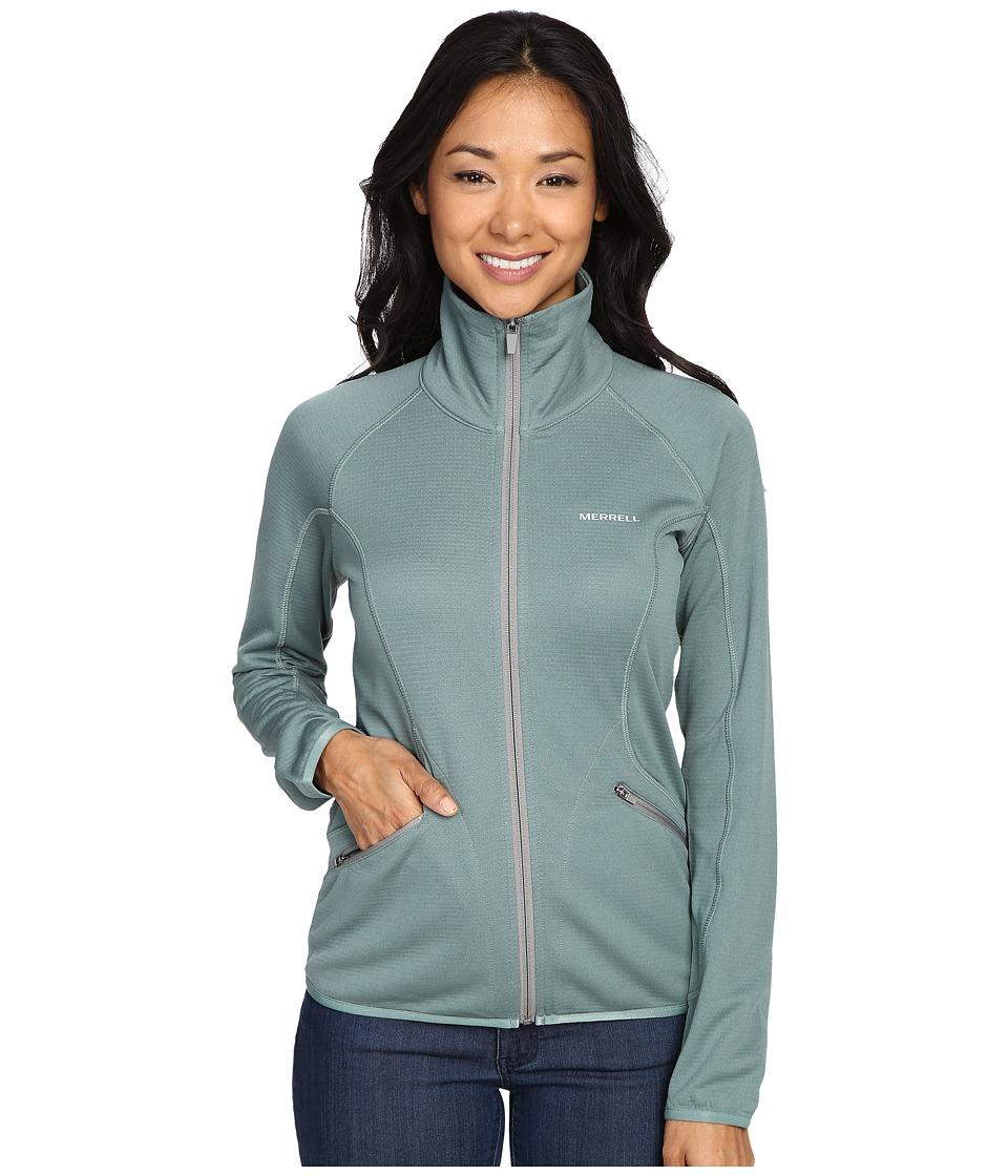 Merrell - Geotex Full Zip Fleece (Sagebrush Green Heather) Women's Fleece