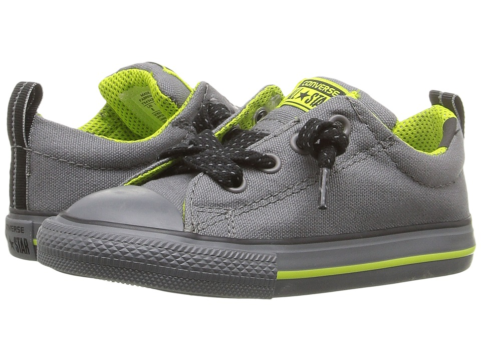 Converse Kids - Chuck Taylor All Star Street (Infant/Toddler) (Mason/Bold Lime/Thunder) Boy's Shoes