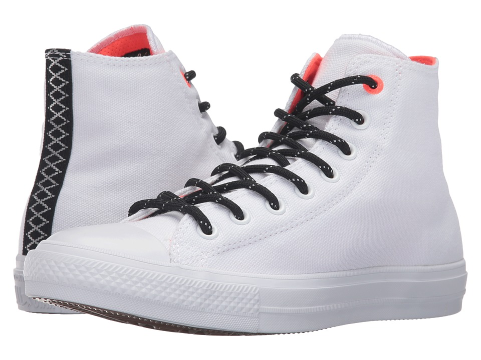 Converse - Chuck Taylor All Star II Shield Canvas Hi (White/Lava/Gum) Lace up casual Shoes