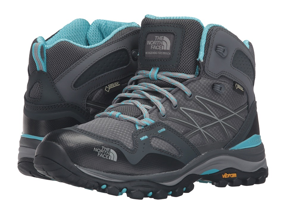 The North Face - Hedgehog Fastpack Mid GTX (Zinc Grey/Fortuna Blue) Women's Lace-up Boots