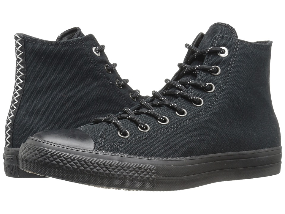Converse - Chuck Taylor All Star II Shield Canvas Hi (Black/Black/Gum) Lace up casual Shoes