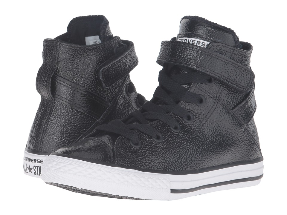Converse Kids Chuck Taylor All Star Brea (Little Kid) (Black/White/Black) Girl