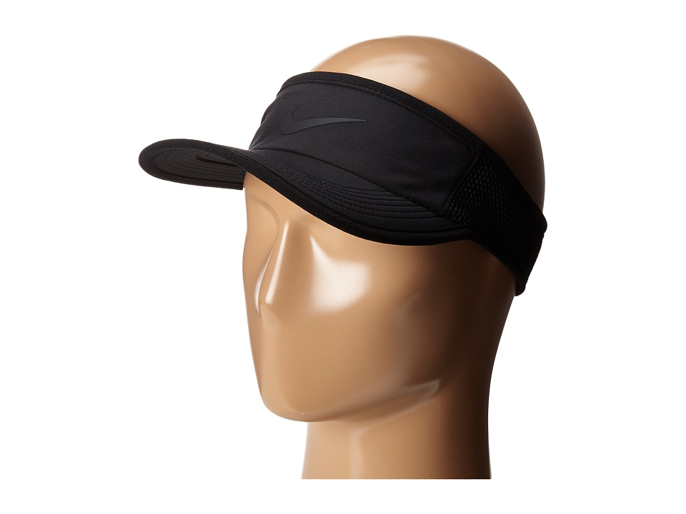 Nike - Featherlight Visor (Black/Black/Black) Casual Visor