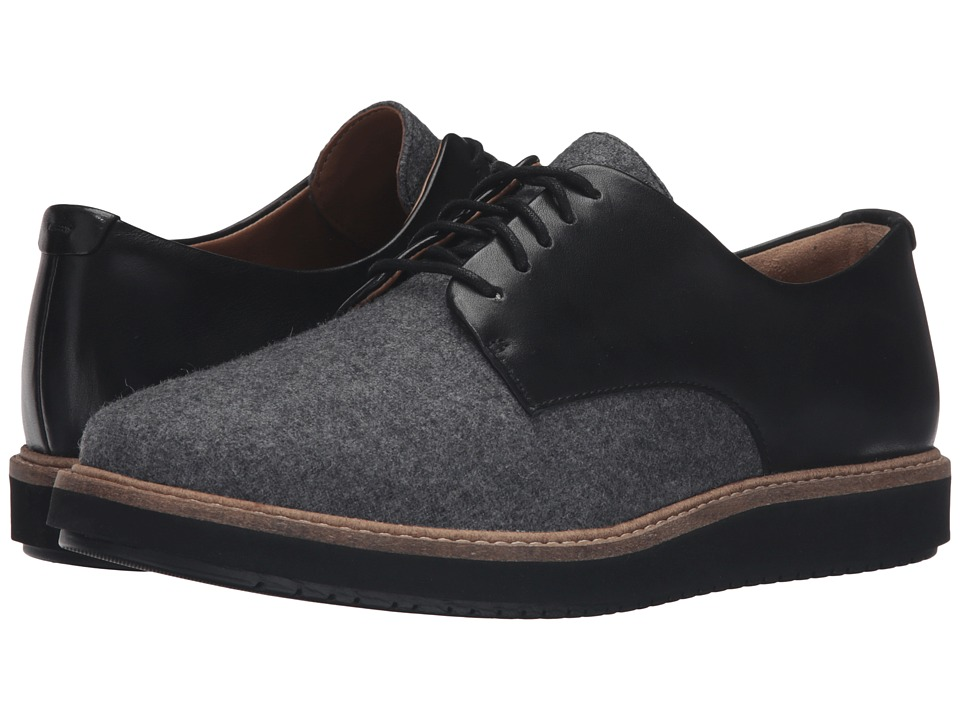 Clarks - Glick Darby (Grey Textile/Black Leather Combo) Women's Shoes