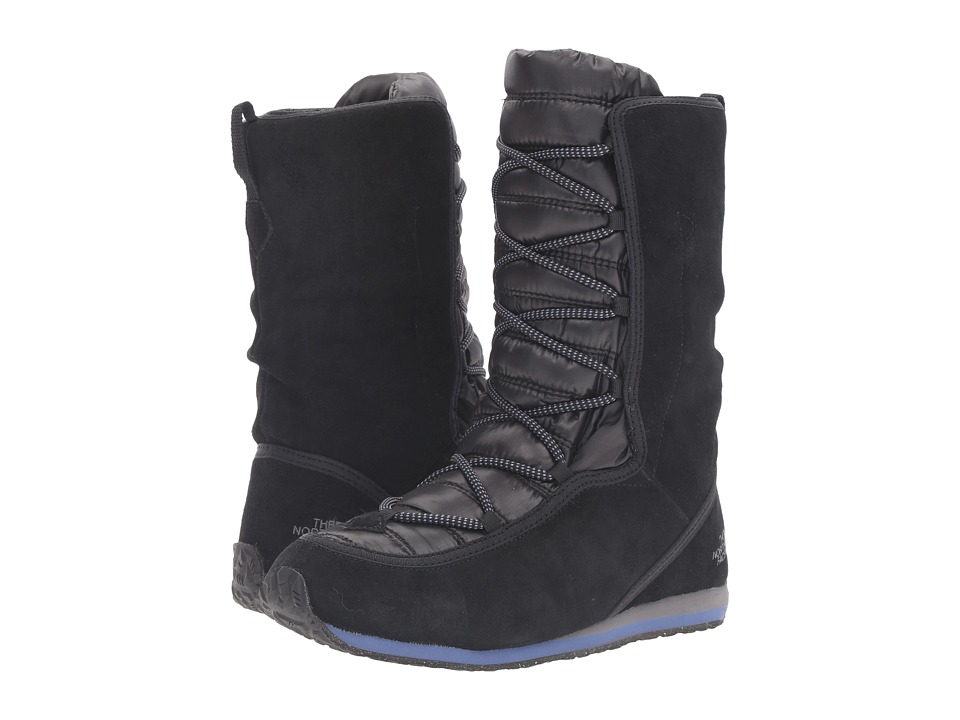 The North Face - ThermoBall Lace EVO (TNF Black/Coastal Fjord Blue) Women's Pull-on Boots