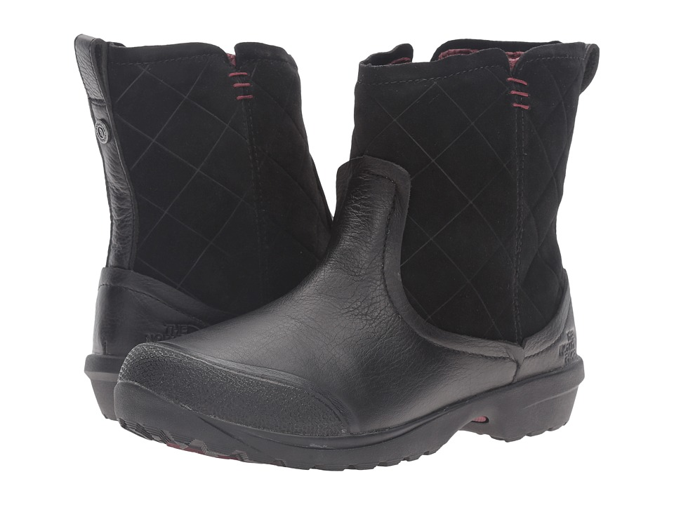 The North Face - ThermoBall Utility Metro Shorty (TNF Black/Deep Garnet Red) Women's Pull-on Boots