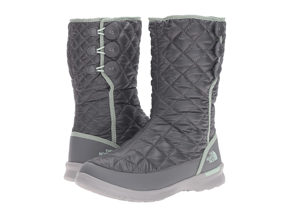 The North Face - ThermoBall Button Up (Shiny Smoked Pearl Grey/Subtle Green) Women's Pull-on Boots