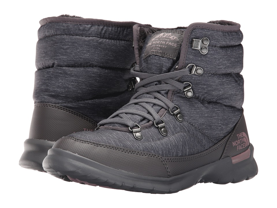 The North Face - ThermoBall Lace II (Phantom Grey Heather Print/Quail Grey) Women's Pull-on Boots
