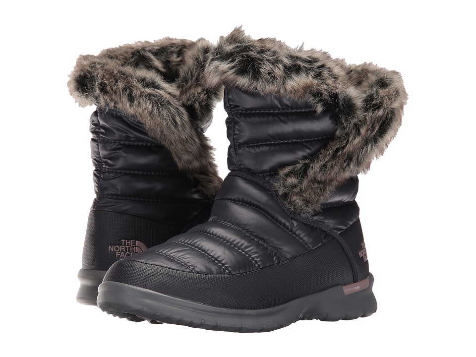 The North Face - ThermoBall Microbaffle Bootie II (Shiny Nine Iron Grey/Quail Grey) Women's Pull-on Boots