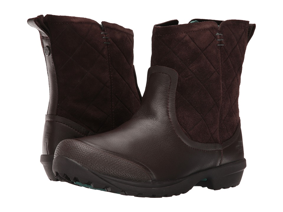 The North Face - ThermoBall Utility Metro Shorty (Coffee Bean Brown/Deep Sea) Women's Pull-on Boots