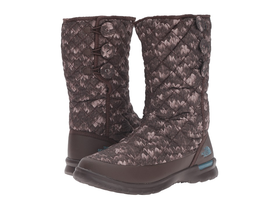 The North Face - ThermoBall Button Up (Stockinette Sweater Print/Tapestry Blue) Women's Pull-on Boots