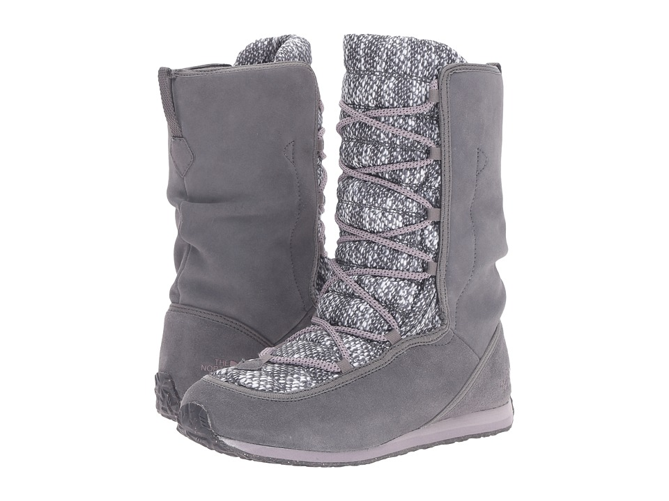 The North Face - ThermoBall Lace EVO (Smoked Pearl Grey/Quail Grey) Women's Pull-on Boots
