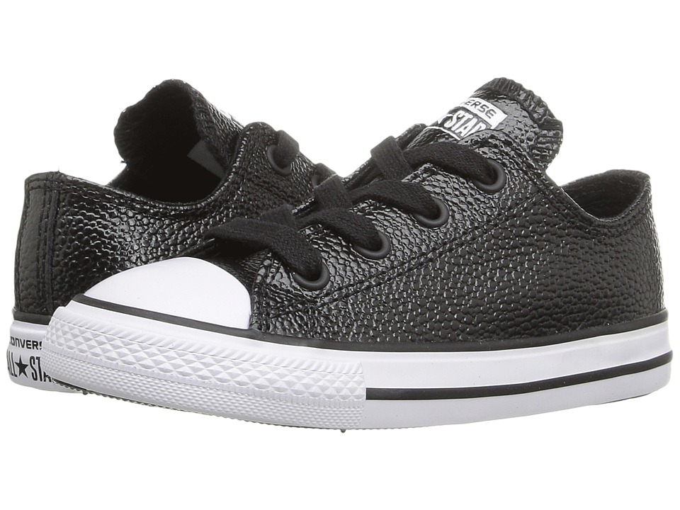 Converse Kids - Chuck Taylor All Star Ox (Infant/Toddler) (Black/White/Black) Girls Shoes
