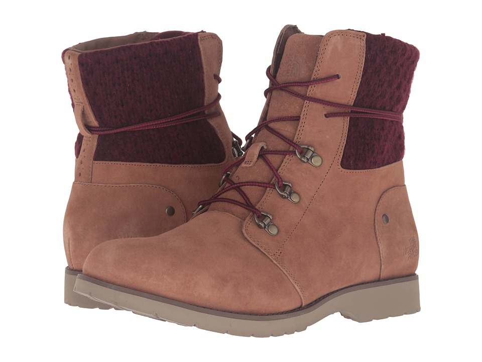 The North Face Ballard Lace II MM (Red Knit) (Dachshund Brown/Deep Garnet Red) Women