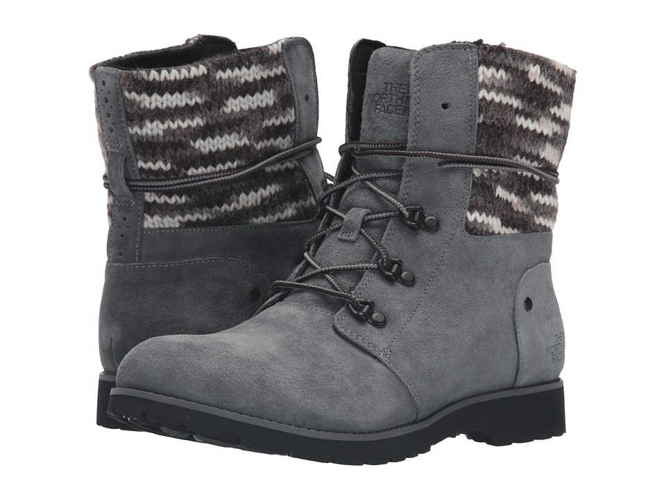 The North Face - Ballard Lace II MM (Multi Knit) (Iron Gate Grey/TNF Black) Women's Lace-up Boots