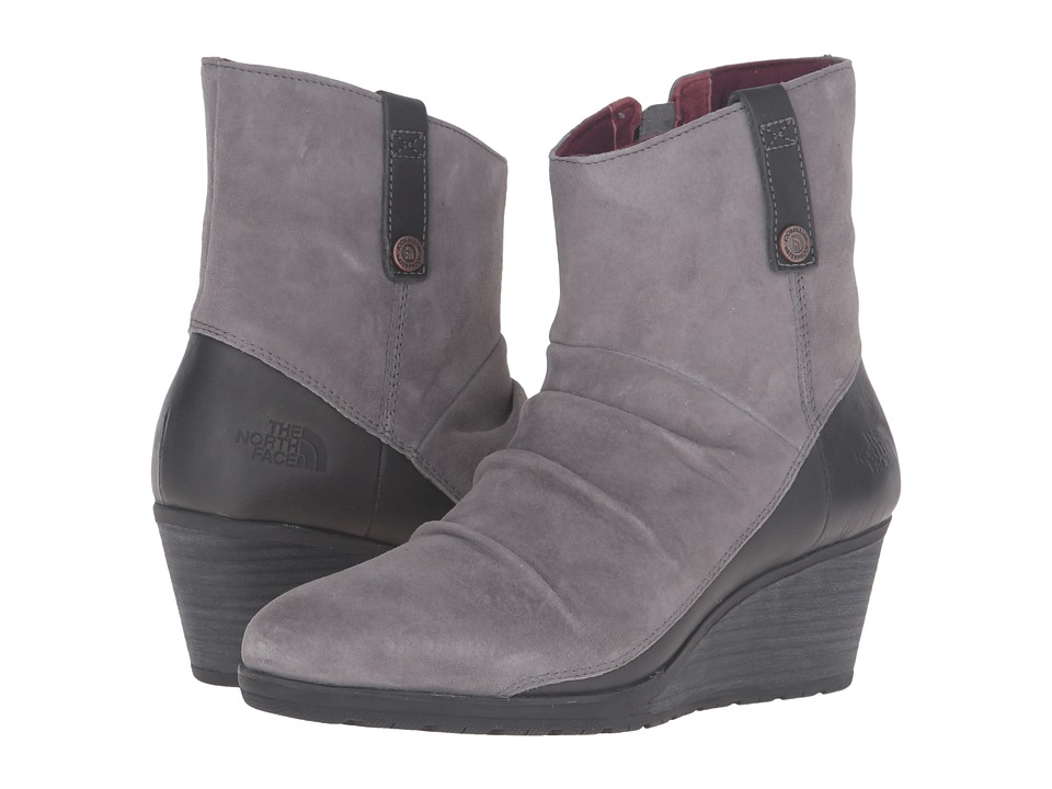 The North Face Bridgeton Wedge Zip (Smoked Pearl Grey/Deep Garnet Red) Women