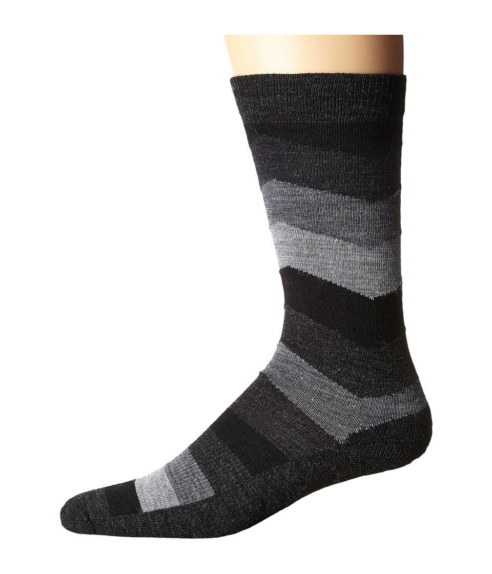 Smartwool - Chevron Stripe (Black) Men's Crew Cut Socks Shoes